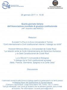 QUARTA GIORNATA ITALIANA AMGC 2017